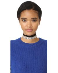 Noir Jewelry - Multicolor Cold Hearted Choker Necklace - Lyst