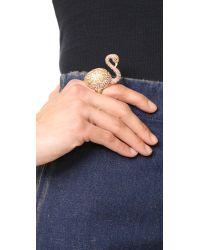 Noir Jewelry - Multicolor Swan Ring - Lyst