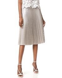 N°21 - Metallic Pleated Skirt - Lyst