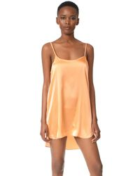 Nudwear | Orange Rose All Day Mini Silk Slip | Lyst