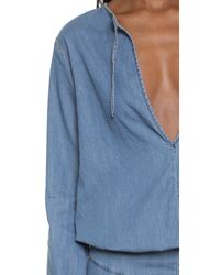 One Teaspoon - Blue Western Isle Dress - Lyst