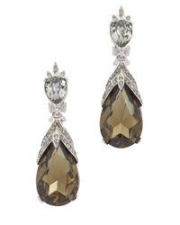 Oscar de la Renta | Metallic Bold Teardrop Earrings | Lyst