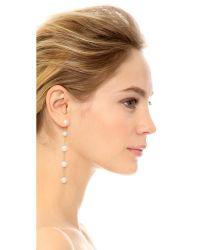 Oscar de la Renta - White Long Drop Pearl Earrings - Lyst