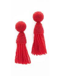 Oscar de la Renta   Multicolor Short Tassel Clip On Earrings   Lyst