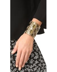 Oscar de la Renta - Metallic Lace Cuff Bracelet - Lyst