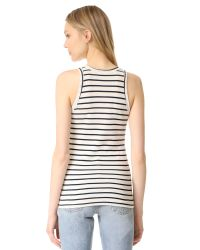 Petit Bateau - Multicolor 1x1 Iconic Striped Tank - Lyst