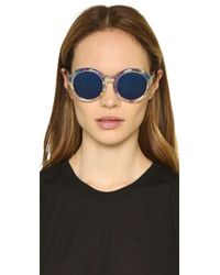 3.1 Phillip Lim - Blue Flower Inlay Sunglasses - Lyst