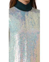 3.1 Phillip Lim - Blue Long Sleeve Iridescent Sequin Top - Lyst