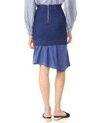 Paper London - Blue Hamilton Skirt - Lyst