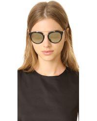 Prada - Multicolor Mirrored Aviator Sunglasses - Lyst