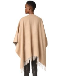 Rag & Bone - Brown Double Sided Poncho - Lyst