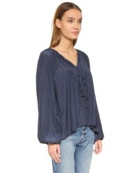Ramy Brook - Blue Paris Blouse - Ivory - Lyst