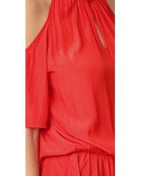 Ramy Brook - Black Ellen Cold Shoulder Dress - Lyst