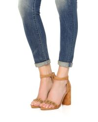 RAYE - Natural Lois Studded Sandals - Lyst