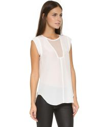 Rebecca Taylor - White Charlie Top - Lyst
