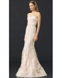 Reem Acra - Natural I'm Beautiful Strapless Gown - Lyst
