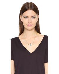 Rebecca Minkoff - Blue Boho Bead Spike Pendant Necklace - Lyst