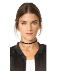 Rebecca Minkoff - Multicolor Pave Chevron Charm Choker Necklace - Lyst
