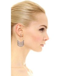 Rebecca Minkoff - Metallic Curve Chandelier Earrings - Lyst