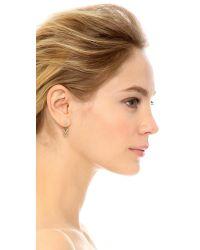 Rebecca Minkoff - Multicolor Double V Front & Back Earrings - Lyst