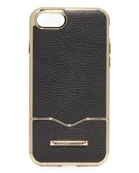 Rebecca Minkoff - Black Inlay Slider Iphone 7 Case - Lyst