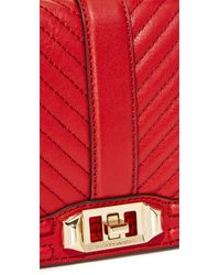 Rebecca Minkoff Red Chevron Quilted Cross Body Bag