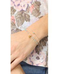 Scosha | Metallic Easygoing Charm Bracelet | Lyst