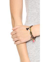 Shashi - Multicolor Lilu Charm Stretch Bracelet - Lyst
