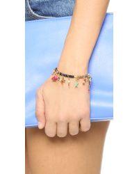 Shashi - Blue Lilu Charm Stretch Bracelet - Lyst