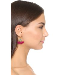 Shashi | Pink Lilu Magenta Earrings | Lyst