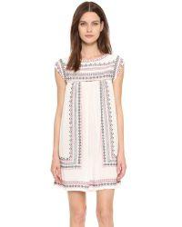 Star Mela Multicolor Allie Embroidered Dress