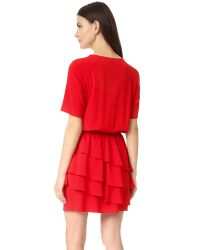 Sonia by Sonia Rykiel - Gray Crepe Ruffle Dress - Lyst