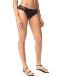 Splendid | Black Brocade Retro Bikini Bottoms | Lyst