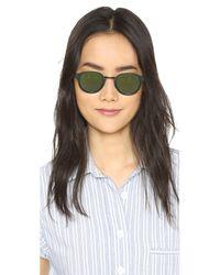 Retrosuperfuture - Black Panama Synthesis Sunglasses - Lyst