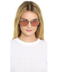 Retrosuperfuture - Pink Ilaria Gel Sunglasses - Lyst