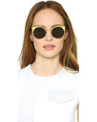 Retrosuperfuture - Yellow Lucia Surface Sunglasses - Lyst