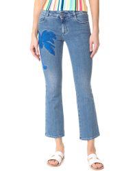 Stella McCartney | Blue Skinny Kick Crop Jeans | Lyst