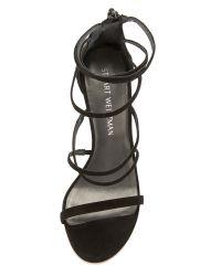 Stuart Weitzman - Black Myex Sandals - Lyst