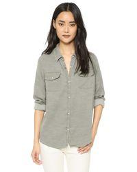 Sundry - Gray Army Shirt - Lyst