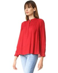 The Great - Multicolor Pintuck Top - Lyst