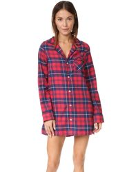 Three J Nyc | Red Audrey Flannel Nightshirt | Lyst