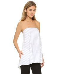 Timo Weiland - White Olivia Strapless Top With Pockets - Lyst