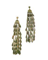 Tory Burch | Metallic Oxidized Metal Chandelier Earrings | Lyst