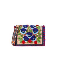 Tory Burch | Multicolor Embroidered Floral Combo Cross Body Bag | Lyst