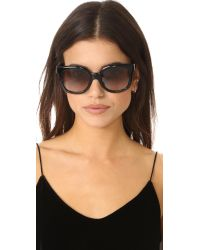 Tory Burch - Brown Square Sunglasses - Lyst