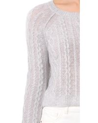 ThePerfext - Gray Cashmere Cable Top - Lyst