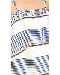 Tanya Taylor - White Textured Sunset Stripe Lone Top - Lyst