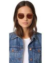 Valentino - Brown Rock Loop Round Sunglasses - Lyst