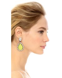 Venessa Arizaga - Yellow Natural Mystic Clip On Earrings - Lyst