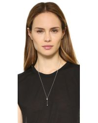 Vita Fede - Metallic Lariat Metal Ball Necklace - Lyst